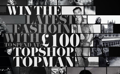 Topshop or Topman Gift Card